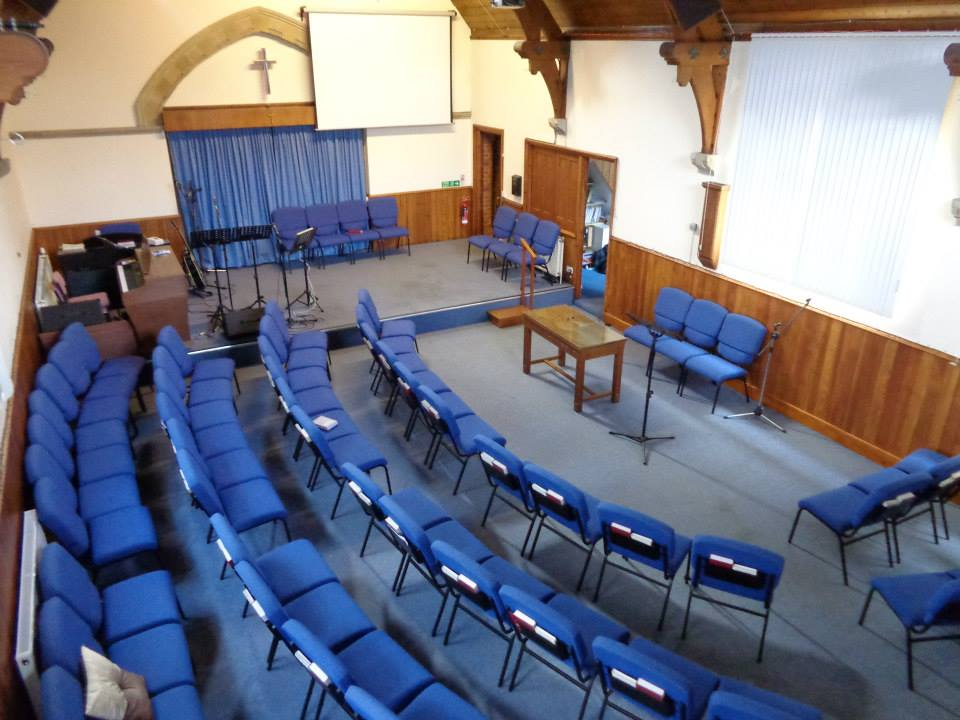 for a few weeks we turned the church round 90 degrees to see if it worked better.  It didn't, but it looks nice in pictures!
